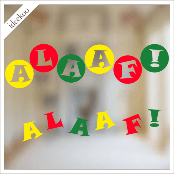Carnaval sticker Alaaf, Raamsticker Carnaval, Carnaval versiering Alaaf, Carnaval Meestrich