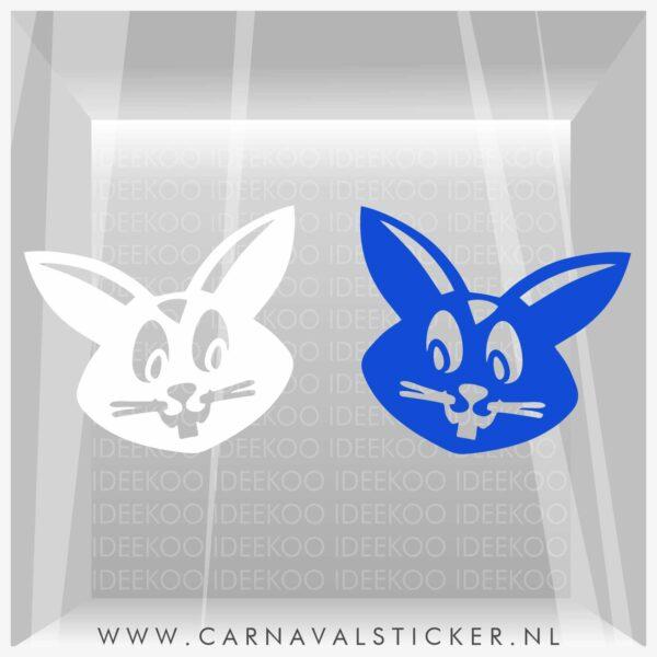Raamsticker carnaval, carnavalsticker, carnaval sticker zandhazendurp