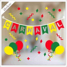 Carnaval sticker slinger ballon mestreech