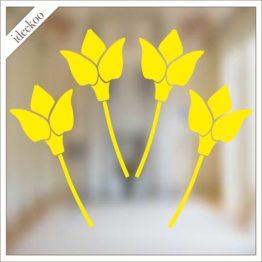 Herbruikbare sticker tulpen