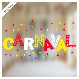 carnaval sticker, carnavalssticker, herbruikbare raamsticker carnaval, oeteldonk sticker, versiering oeteldonk