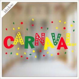carnaval sticker, carnavalssticker, herbruikbare raamsticker carnaval, vastelaovend, mestreech sticker