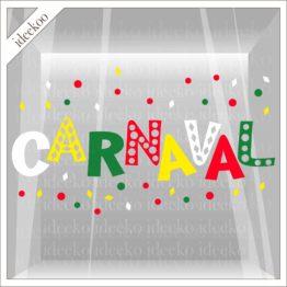 carnaval sticker, carnavalssticker, herbruikbare raamsticker carnaval, vastelaovend