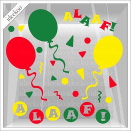Carnaval sticker alaaf ballon confetti Mestreech