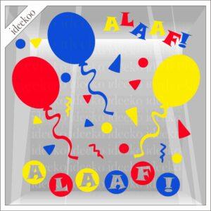 Carnaval sticker alaaf ballon confetti