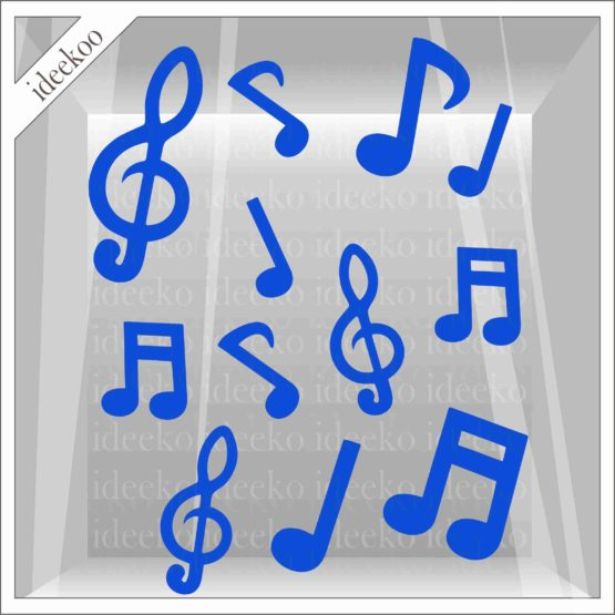 carnavalsticker muzieknoten noten