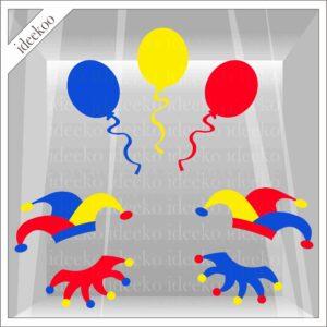 carnavalsticker ballon steek