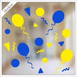 carnavalsticker confetti ballon