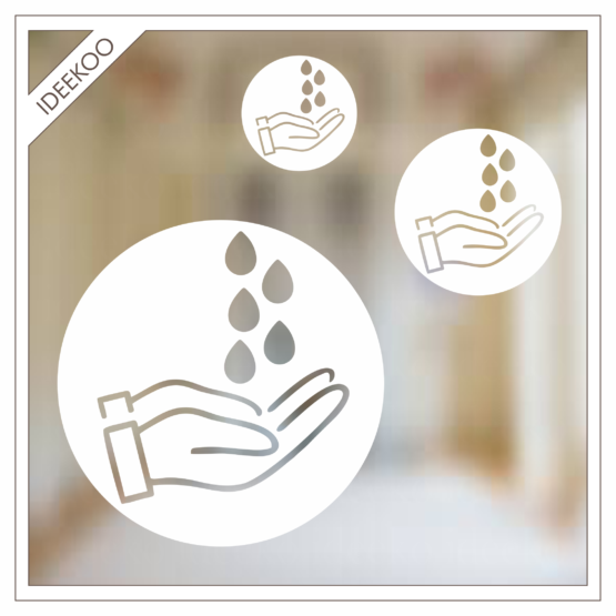 spiegelsticker handen wassen corona sticker