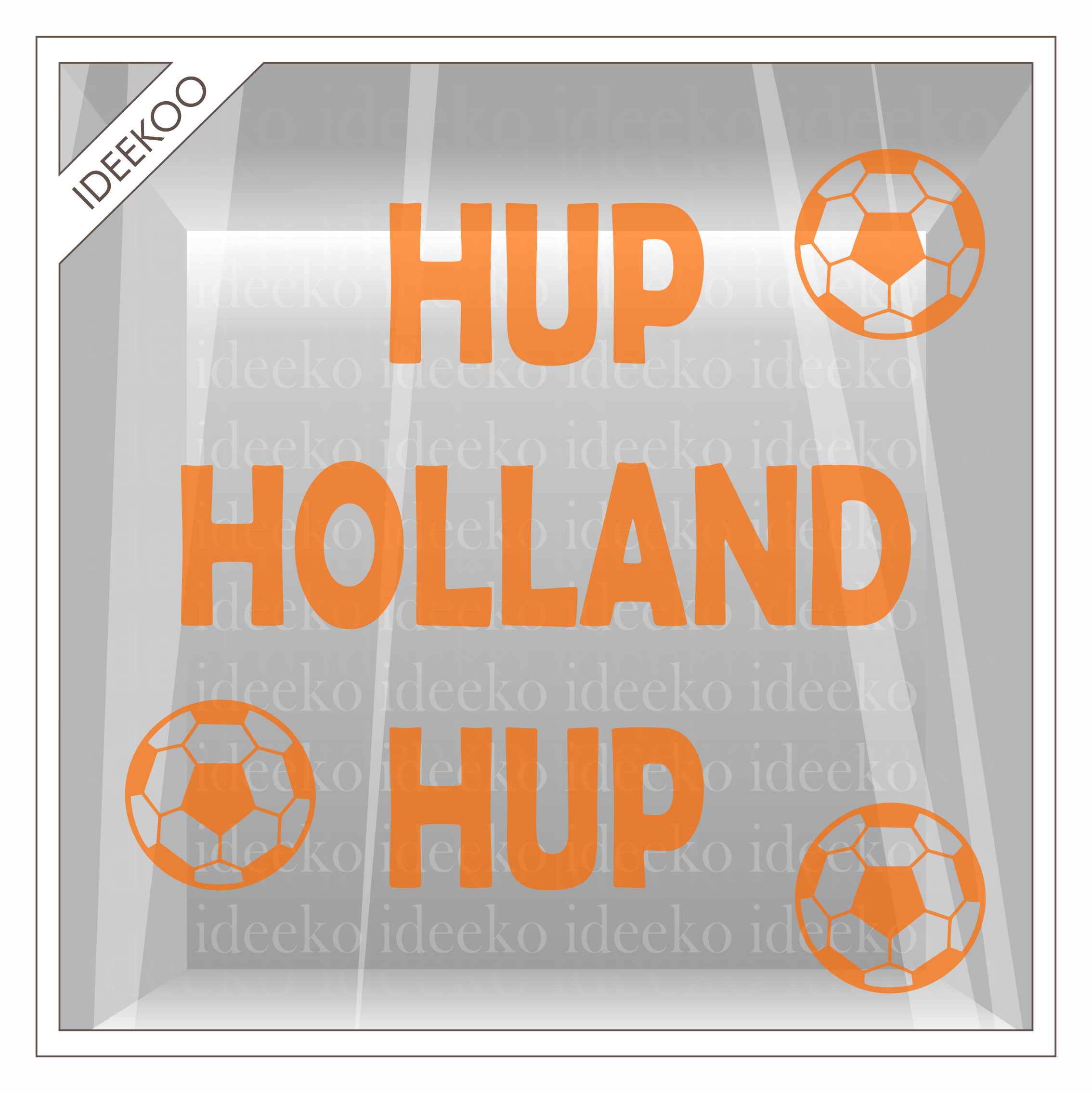 hup holland hup sticker voetbal