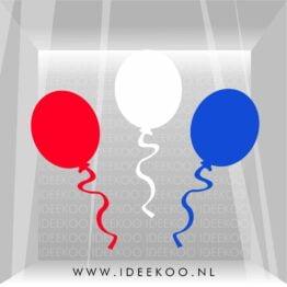 koningsdag sticker rood wit blauw oranje raamsticker koningsdag versiering ballon