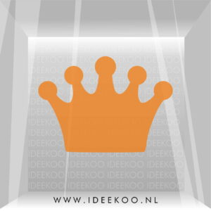 koningsdag sticker kroon konignsdag versiering