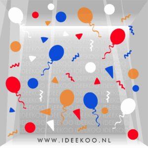 koningsdag sticker rood wit blauw oranje raamsticker