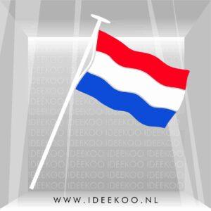 koningsdag sticker rood wit blauw oranje raamsticker koningsdag versiering vlag