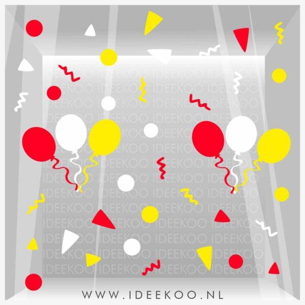 Raamsticker carnaval, carnavalsticker, carnaval sticker slinger confetti oeteldonk