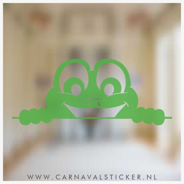 Raamsticker carnaval, carnavalsticker, carnaval sticker gluurkikker, oeteldonk