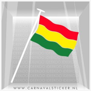 Vlag, Raamsticker vlag, herbruikbare sticker vlag, carnaval sticker, carnavalsticker vlag, mestreech, vastelaovend vlag