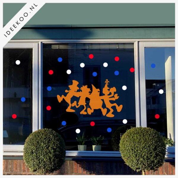 koningsdag sticker raamsticker EK WK versiering feest