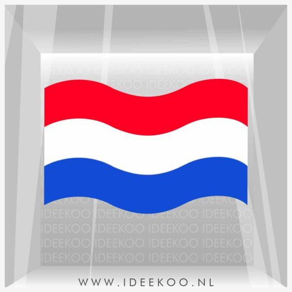 koningsdag sticker rood wit blauw vlag raamsticker EK WK versiering