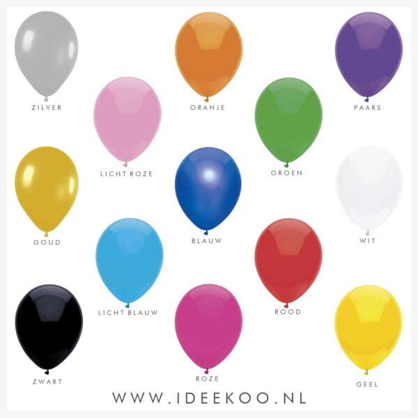 Ballonnen, Ballonnen 6 stuks, versiering carnaval, balonnen koningsdag, balonnen carnaval