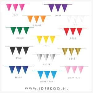 Vlaggenlijn PE 10 meter, vlaggenlijn carnaval, versiering carnaval, vlaggen koningsdag