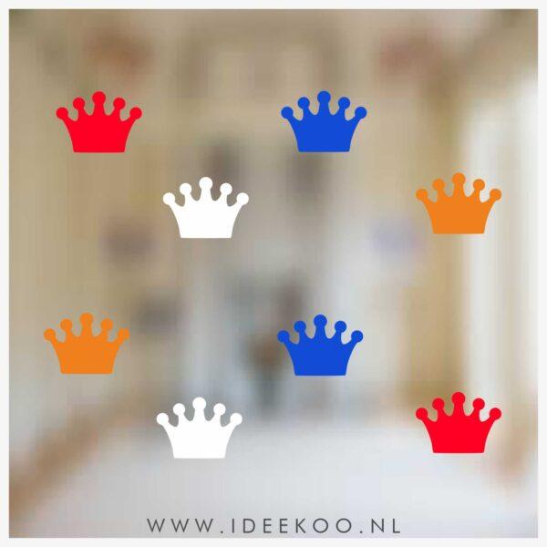 koningsdag sticker rood wit blauw oranje raamsticker EK WK versiering