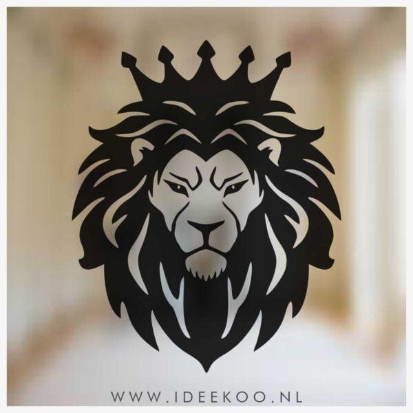 Raamsticker EK, EK, WK, voetbal sticker, oranje leeuw, EK versiering, EK sticker
