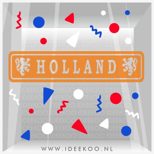 Raamsticker EK, EK, WK, voetbal sticker, holland plaatsnaambord, EK versiering, EK sticker, versierset oranje